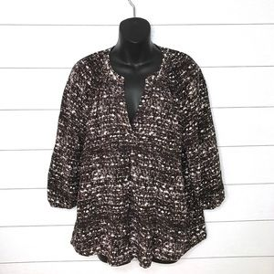 Joie silk 3/4 elastic sleeve blouse